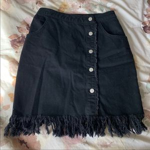Anthropologie Button Up Skirt